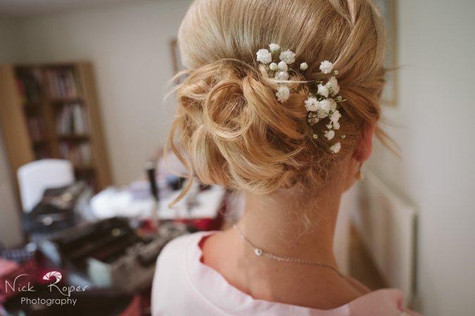 Image of the bridesmaid hair